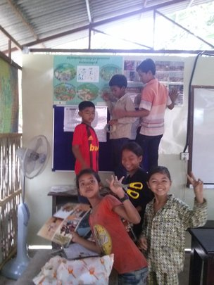 English classroom decoration by children