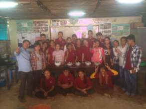 Cooking class of life skill students