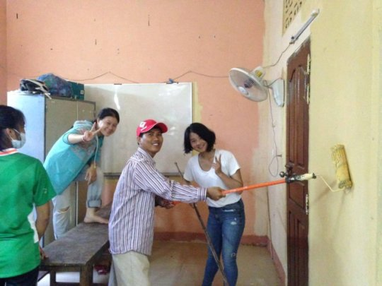 Painting classroom
