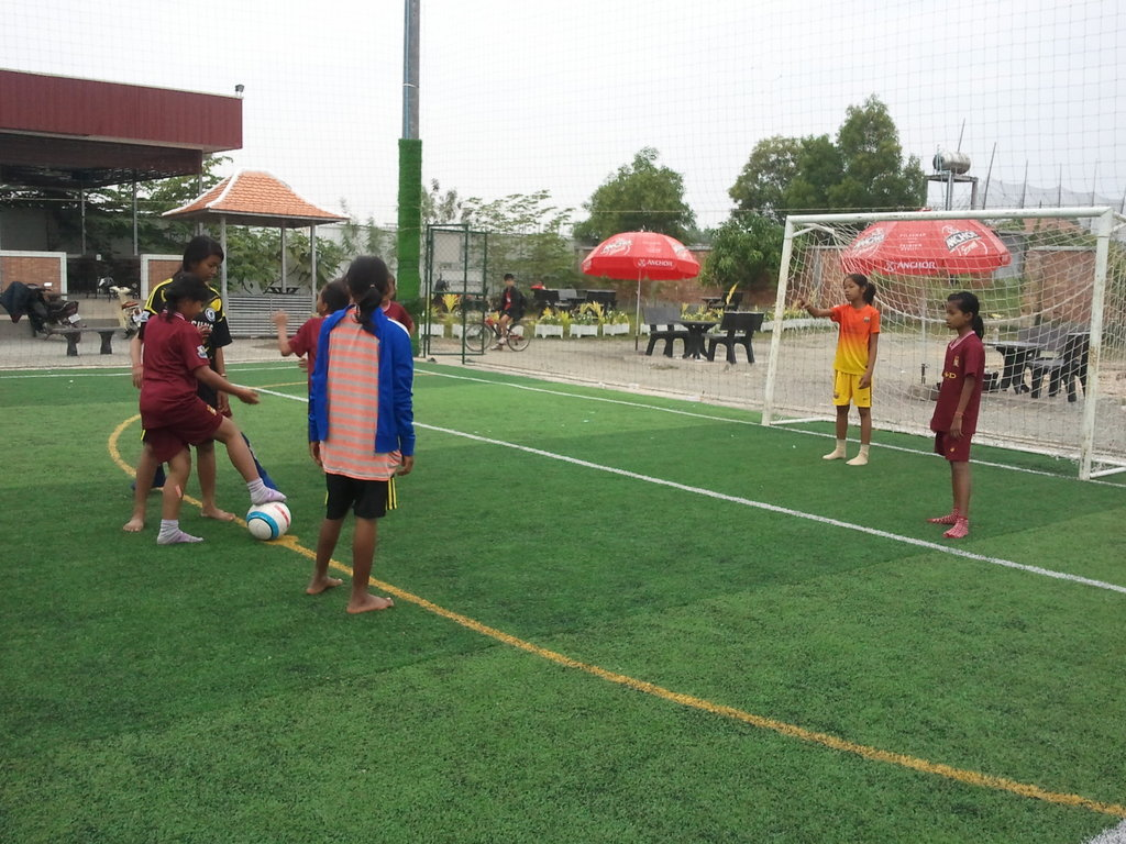 Girl team participate in the football league