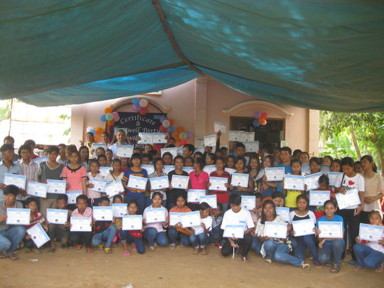 Certificate celebration