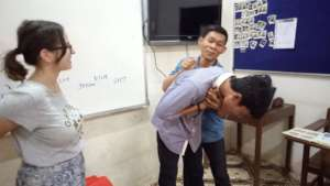 Practice in chocking