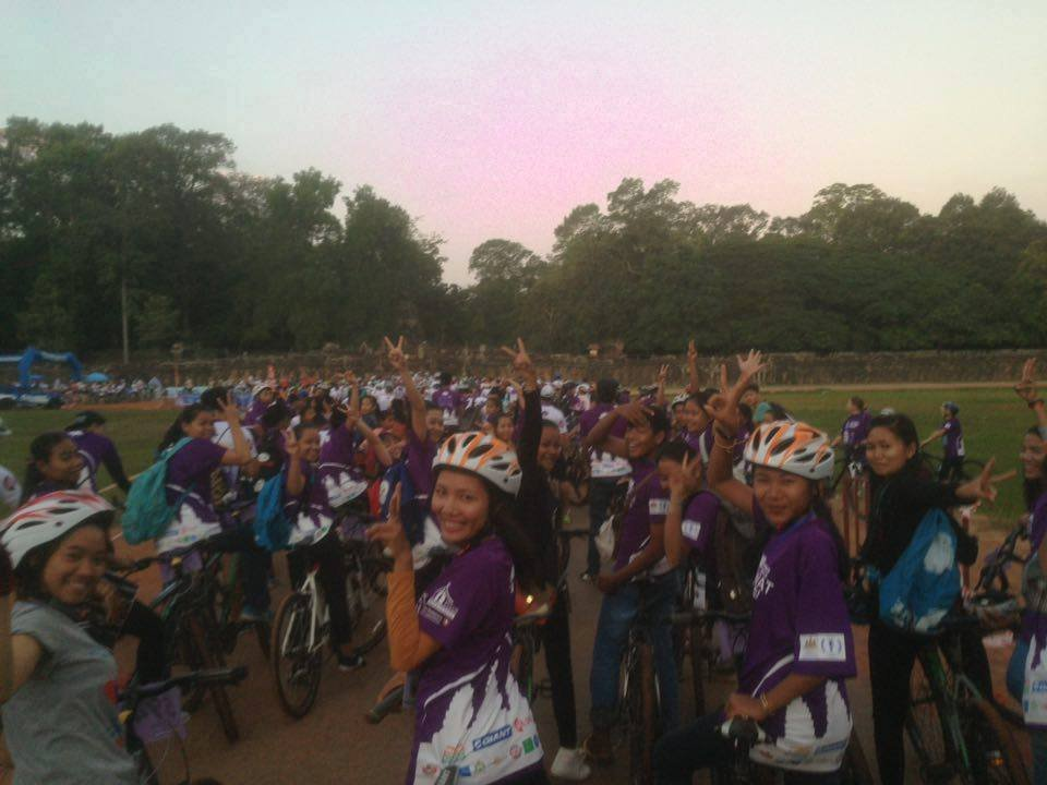Our students participated in Angkor Bike4Kids