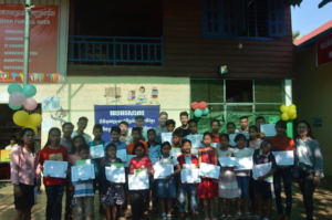 Certificates offered during Khmer new year party