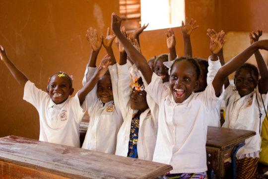 Girls at the Bassa School