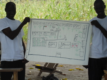 villagers present their vision on an educated village