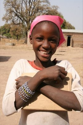 Girls look forward to an education in Mali