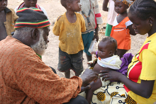 Vaccinations performed in the village of Dienfing