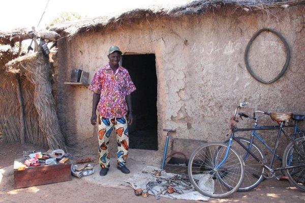 An entrepreneur at his bike repair shop