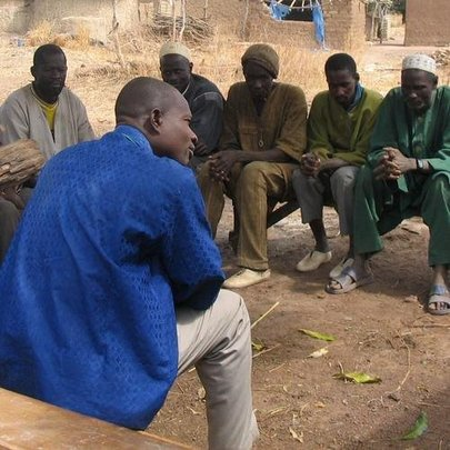 Business training in the village of Famana