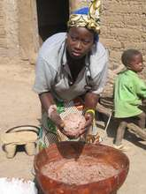Village Woman Making Shea Butter
