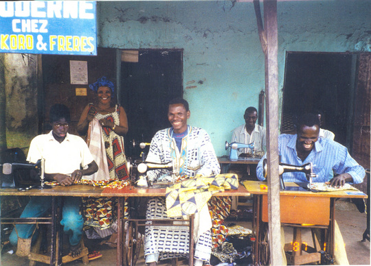 A successful tailor business that was started with one of our fi