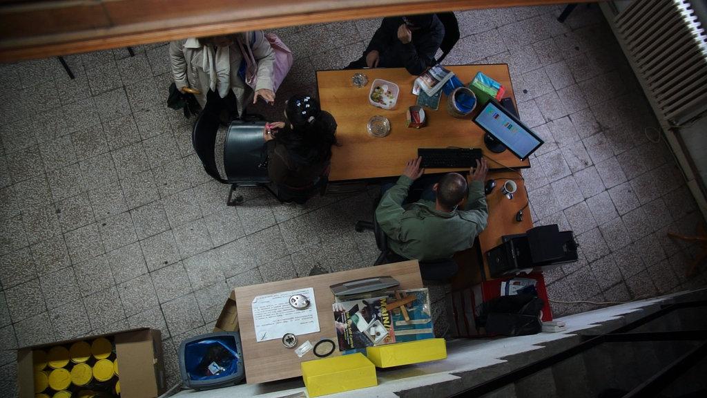 Needle exchange at Veza, in Belgrade.