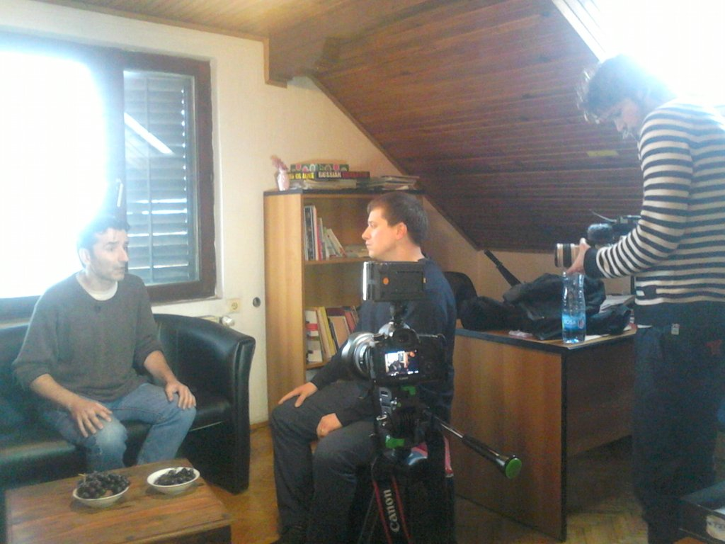 Drugreporter during filming at Veza, in Belgrade
