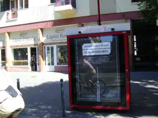 Citylight ad in Budapest