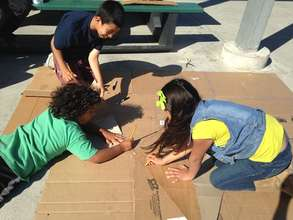 Working together to turn trash into art!