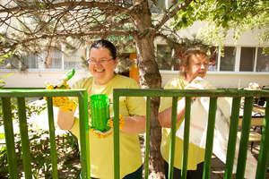 Nase Mesto - fence paiting