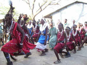 Masai students entertain our guests