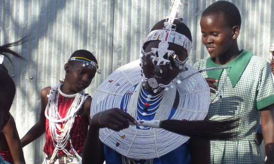 MASAI GIRLS DANCE FOR CONSERVATION