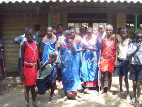 Masai children benefit the most from our tree planting program.