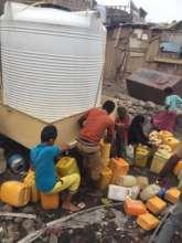 A water point in Aden, Yemen