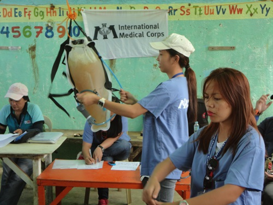 International Medical Corps demonstration