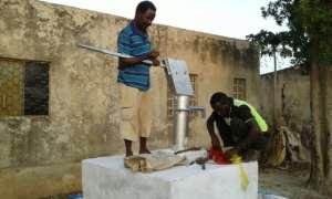 Rebuilding a well in Jowhar, Somalia
