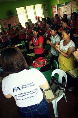 Hygiene education session for teachers