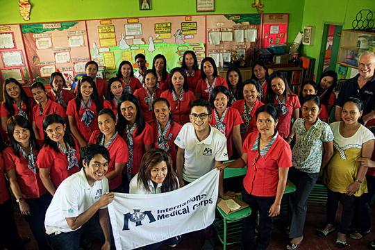 Teacher hygiene class group shot