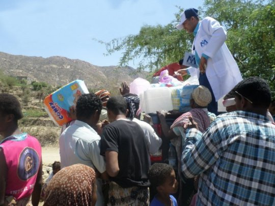 Kais distributes hygiene kits to displaced persons