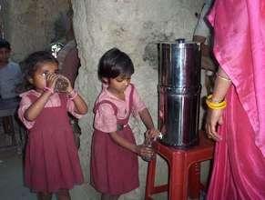 Children adopting to take safe drinking water