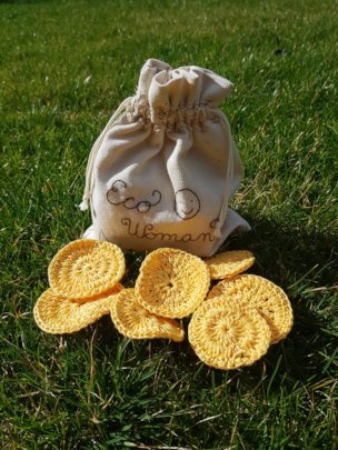 Cosmetic pads for Eco woman :) made by Mirka