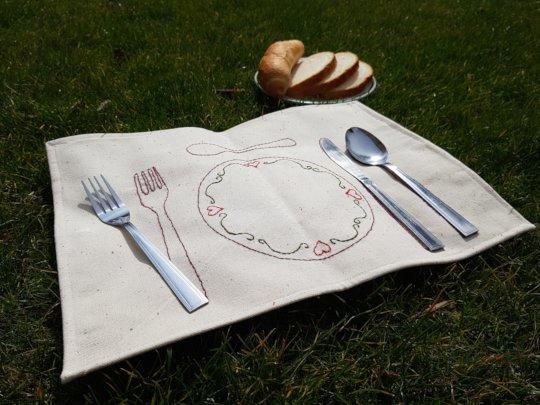 Table mat made in Claudianum