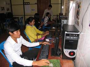 Joining advanced computer classes at a partner NGO