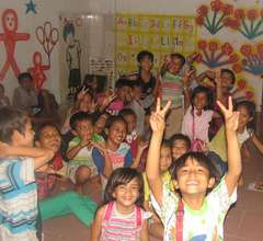 Kids in one of Tiny Toones English classrooms