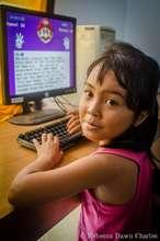 A 'Tiny Toon' enjoying computer class