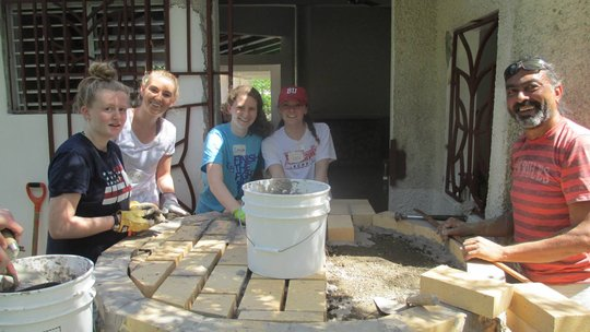 Volunteers from Lawrence Academy