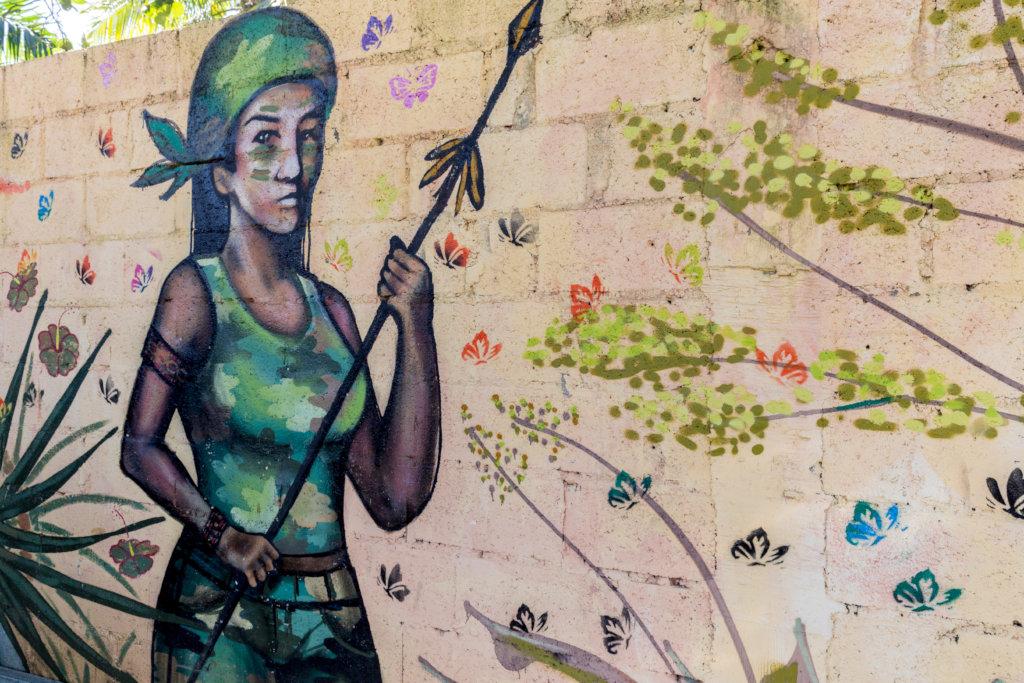 Anacaona mural