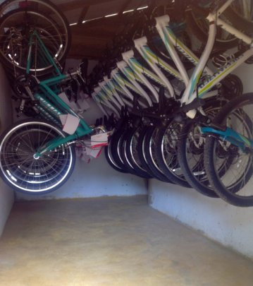 Properly stored new bikes!