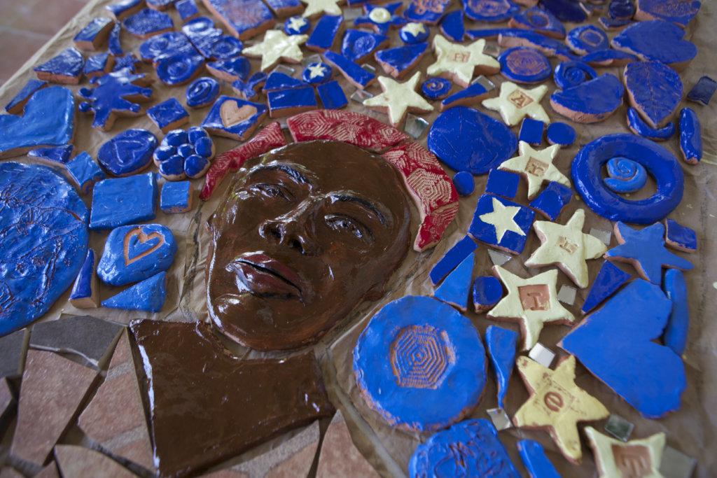 Harriet Tubman mosaic