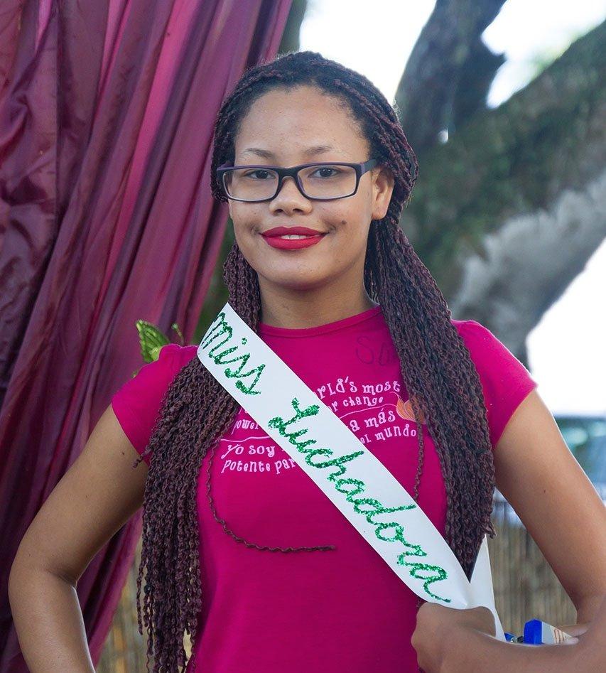 Viviana, 15, proudly displays her new title