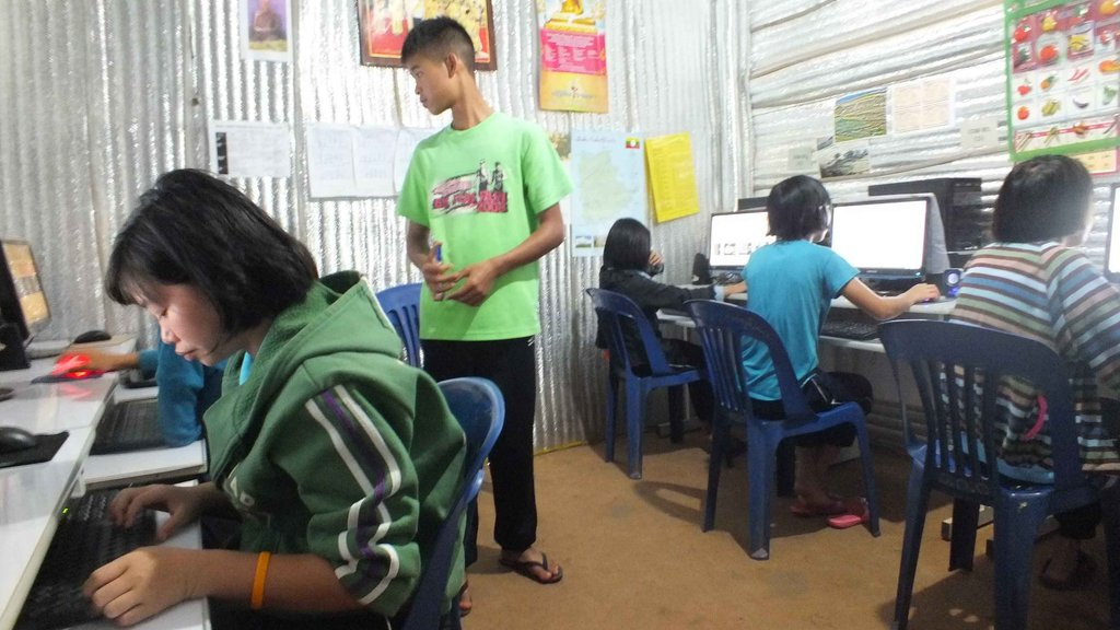 One of the computer classes in action