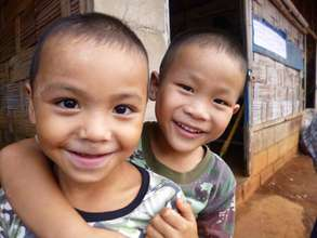 A couple of younger residents of the Refugee Camp