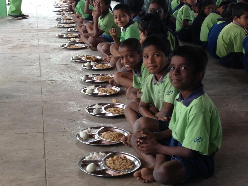 Children Enjoying their Meals