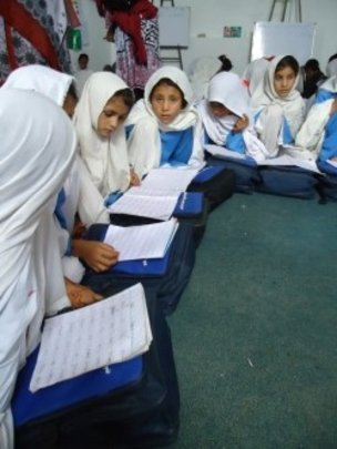 Girls Learn in Dir, Pakistan