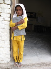 A DIL Student on her way to school