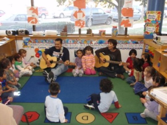 Pre-schoolers at El Valor child development center