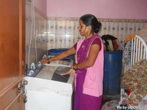 Washing of cotton cloth