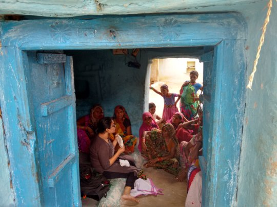Menstrual Hygiene session with women