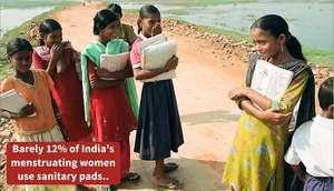 12% of India's menstruating women use sanitary pad